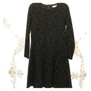 LOFT dark green & black long sleeved dress